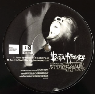 "Busta Rhymes ‎- Turn It Up (Remix)/Fire It Up (12"") (G/NM)"